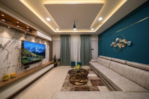 Living Room for Mr. Nilesh Gulunchkar at Pune.