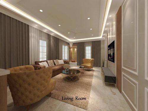 Living Room for Mr. Sachin Patil at Pune